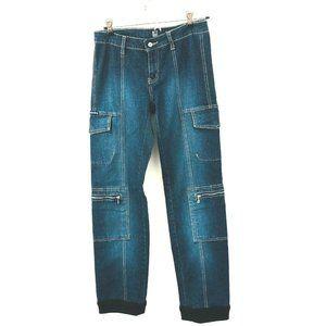 Marithe Francois Girbaud Straight Leg Cargo Jeans